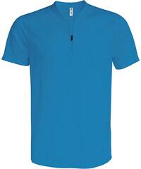 Sportovní tričko na zip - Modrá XS