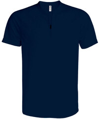 Sportovní tričko na zip - Námořní modrá XS