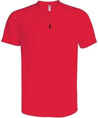Sportovní tričko na zip - Červená XS