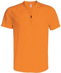 Sportovní tričko na zip - Oranžová XS