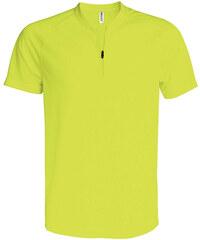 Sportovní tričko na zip - Zářivá žlutá XS
