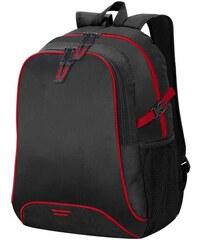 Batoh s barevnými proužky - Černá a červená univerzal