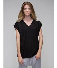 Tričko V-výstřih - Bílá S