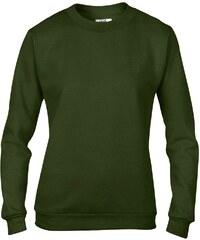 Basic mikina - Vojenská zelená S