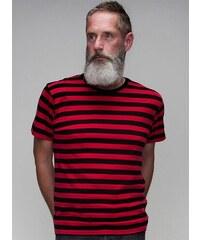 Pruhované tričko - Černá a červená S