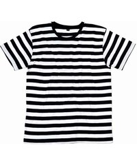 Pruhované tričko - Bílá a černá S