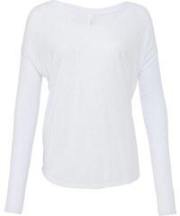 Tričko s dlouhým rukávem Flowy - Bílá S