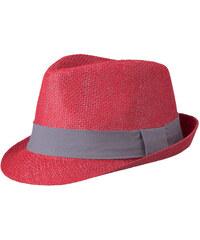 Barevný slamák unisex - Červená a šedá S/M