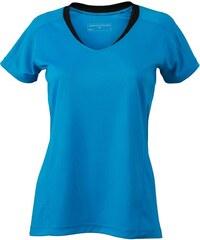 Funkční tričko James Nicholson - Modrá s černou XS