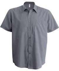 Košile s krátkým rukávem Kariban - Stříbrná S