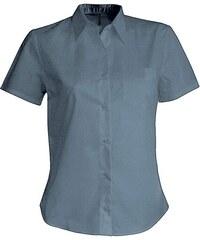 Košile s krátkým rukávem Kariban - Stříbrná XS