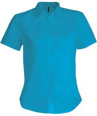 Košile s krátkým rukávem Kariban - Tyrkysová XS