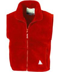 Fleecová vesta - Červená 3-4