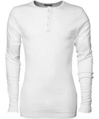 Vysoce komfortní tričko s dlouhým rukávem - Bílá S