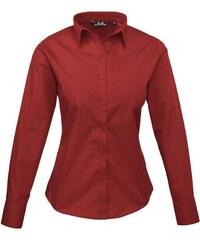 Dámská košile Premier - Vínově červená XXS