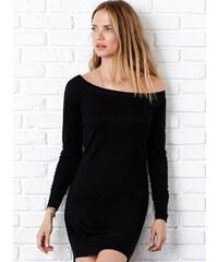 Šaty lodičkový výstřih - Černá S