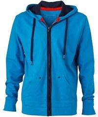 Outdoor mikina - Azurově modrá S