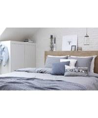 Walra Parure housse de couette 200x200 cm + 2 taies d'oreiller 60x70 cm FLINT gris en jersey 100% coton