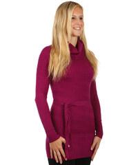 TopMode Moderní svetr / šaty s rolákem fialová