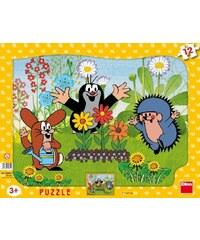 Dino Puzzle deskové tvary Krteček zahradník