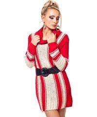 JapanStyle Pletený svetr s opaskem