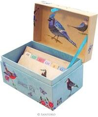Santoro London - Krabička - Adresář - Watercolour Birds