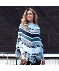 Lesara Pullover im Poncho-Look - S