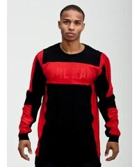 Karl Kani Stripes Logo Structure Crewneck Black Red