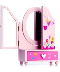 Teddies Zrcadlo šperkovnice Princess 3-dílné