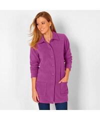 Blancheporte Fleecový kabátek purpurová