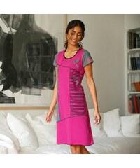 Blancheporte Asymetrická noční košile s potiskem indická růžová