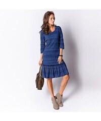 Blancheporte Krajkové šaty indigo