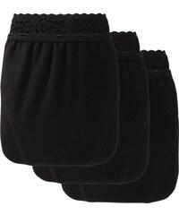 Blancheporte Midi kalhotky s krajkou (3 ks) černá