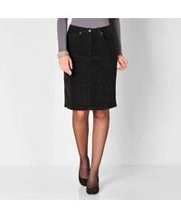 Blancheporte Manšestrová rovná sukně černá
