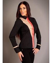 Ivonne Dámská košile LETF-BLACK-BEIGE