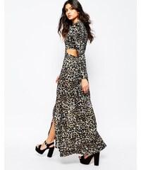 Somedays Lovin - Wagon - Maxi robe à imprimé léopard avec découpes au dos - Multi