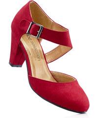 bpc selection Escarpins à bride rouge avec 7 cm talon entonnoirchaussures & accessoires - bonprix