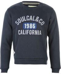 SoulCal Fashion Crew Neck Sweat Top Boys Dark Navy