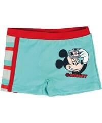 Disney Brand Chlapecké nohavičkové plavky Mickey - tyrkysovo - červené