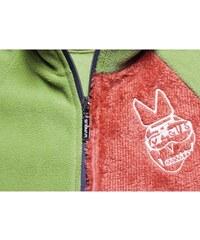 Dětská mikina Vagus Puppy II - zelená/oranžová