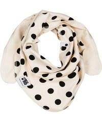 Lamama Dívčí oboustranný puntíkatý šátek - smetanový