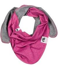 Lamama Dívčí oboustranný šátek - fialovo - šedý