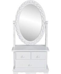 Malý toaletní stolek se sklopným zrcadlem