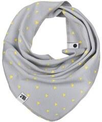 Lamama Dětský šátek/nákrčník - světle šedý s trojúhelníčky