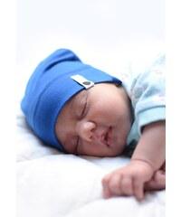Lamama Dětská novorozenecká čepice - sytě modrá