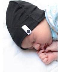 Lamama Dětská novorozenecká čepice - černá