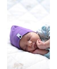 Lamama Dívčí novorozenecká čepice - fialová