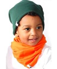 Lamama Komínový bavlněný šál/šátek- oranžový