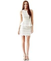 Guess Šaty Jazlyn Lace Peplum Dress