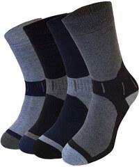 Lesara 8er-Set Socken mit farblich abgesetzter Spitze - Mehrfarbig - 39-42